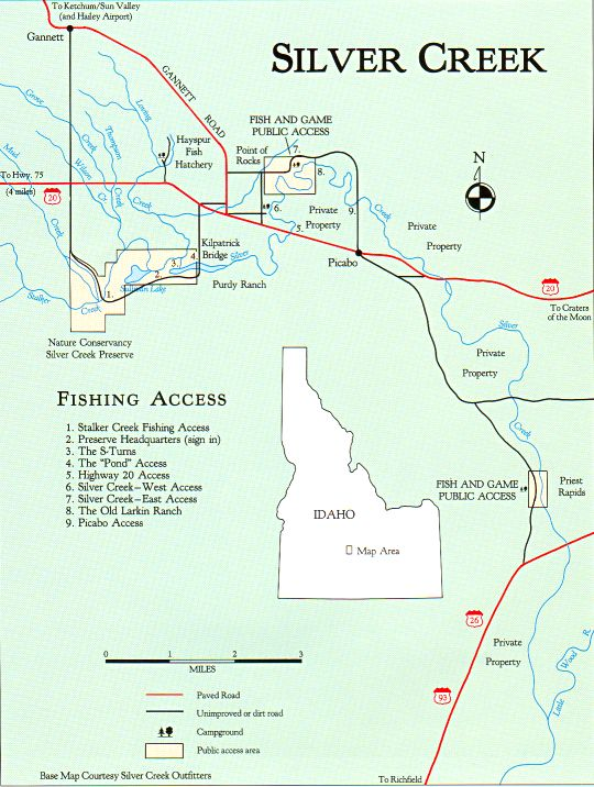 Silver creek map great rivers angler 39 s online for Silver creek idaho fishing