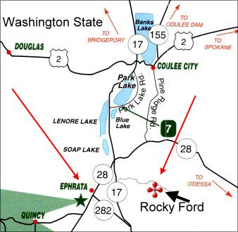 Map lakes & Rocky Ford